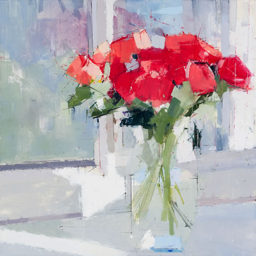 Morning Flowers - painting by Lisa Breslow