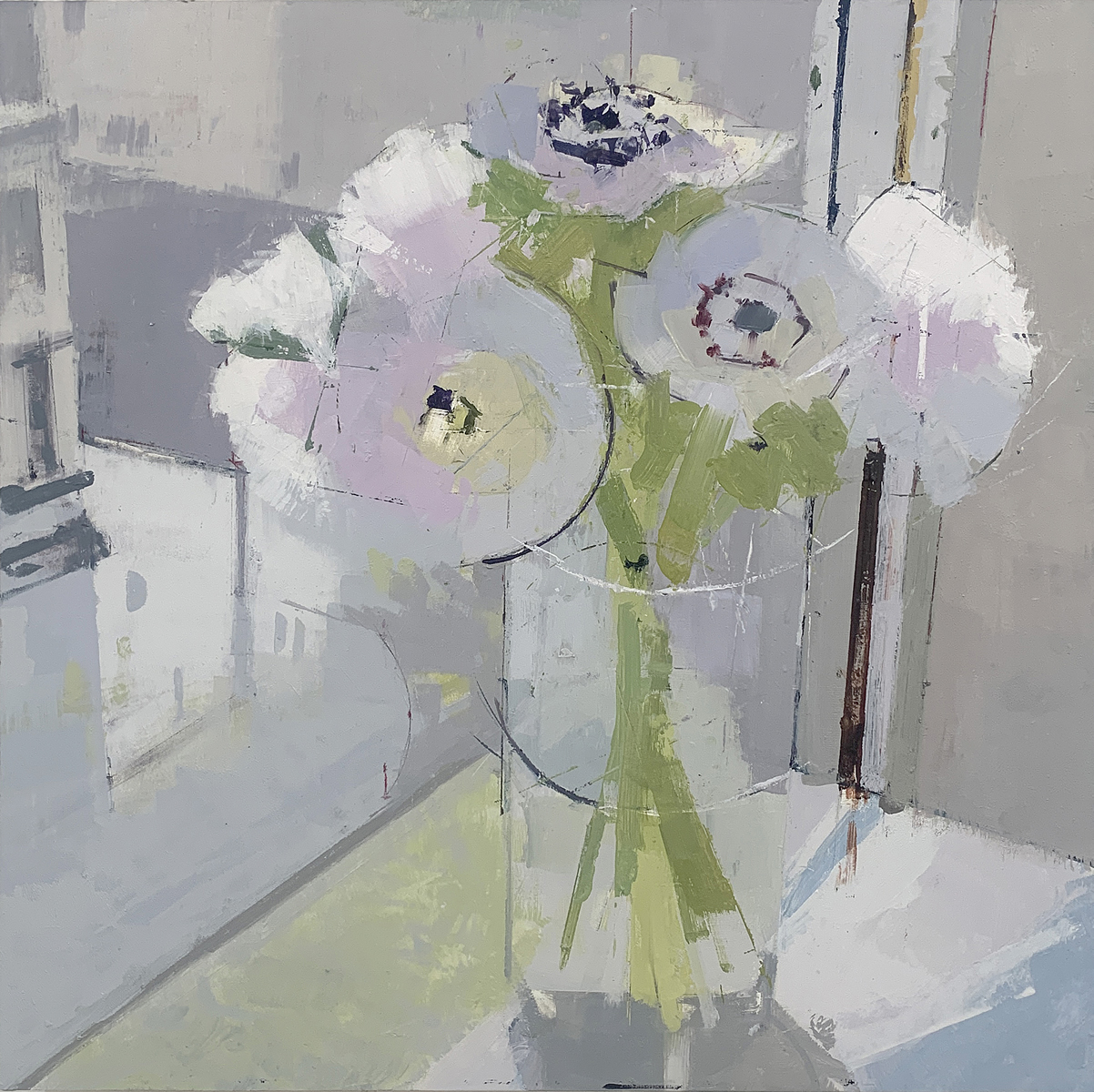painting, Anemonies painting by Lisa Breslow