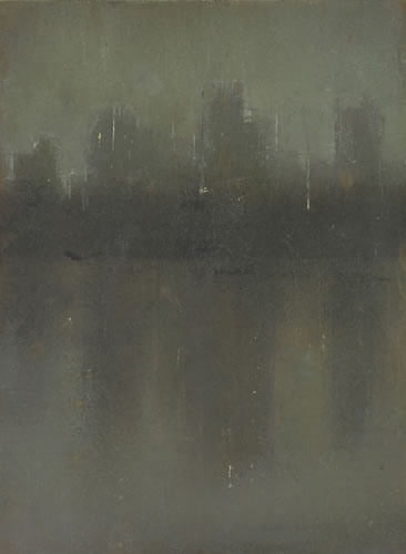 painting Central Park Nocturne