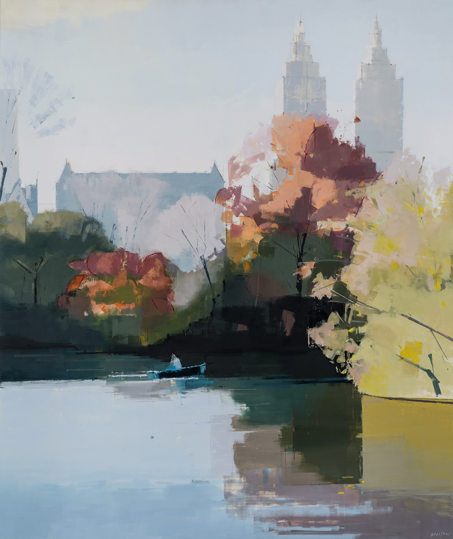 painting, Central Park, Autumn, painting by Lisa Breslow