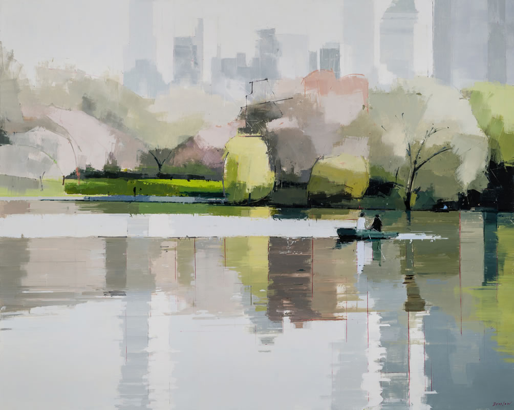 Central Park Spring - painting by Lisa Breslow