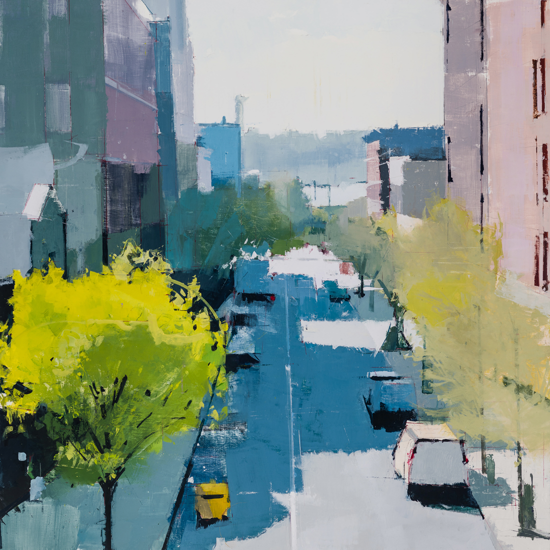 painting, Highline Looking West, painting by Lisa Breslow