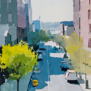 painting Highline Looking West by Lisa Breslow