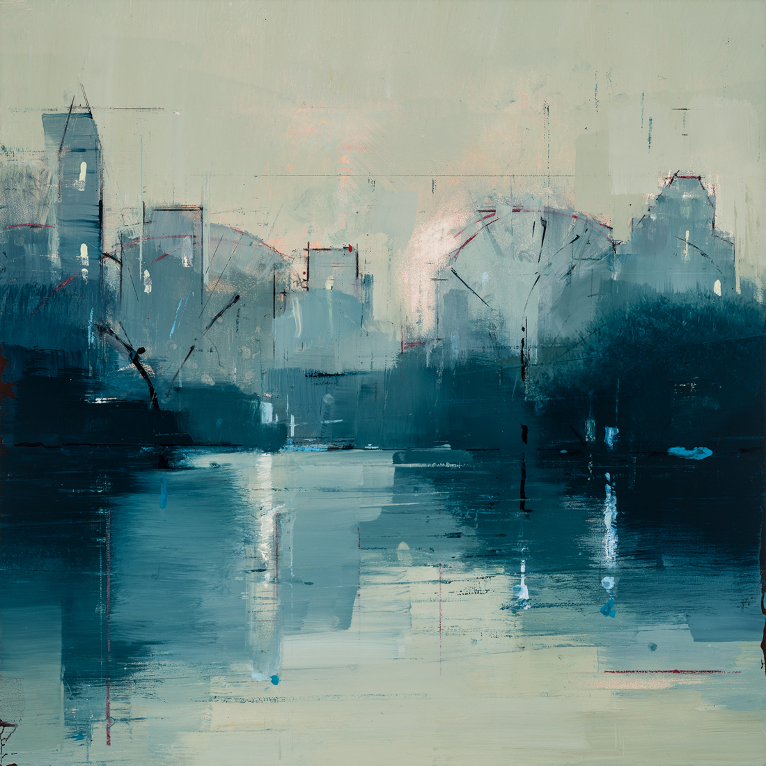 painting, Nocturne 2, painting by Lisa Breslow