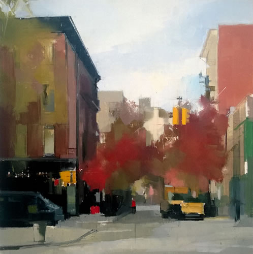 Perry Street - painting by Lisa Breslow