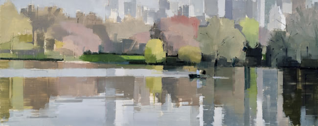 painting, Spring Reflections