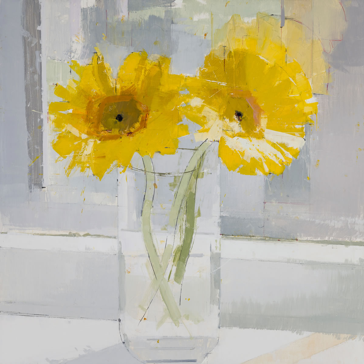 painting, Sunflowers painting by Lisa Breslow